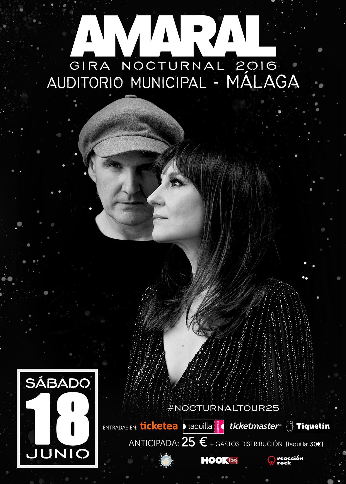 Amaral en Málaga